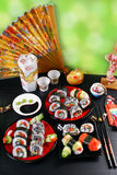 Sushi party table Stock Photo