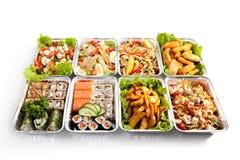 Sushi and Pasta Stock Image