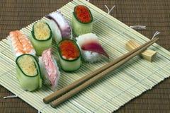 Sushi - pasto da frutti di mare Immagine Stock Libera da Diritti