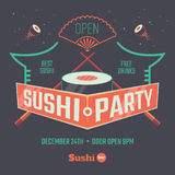 Sushi patry poster royalty free illustration