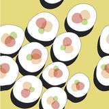Sushi pattern Stock Image