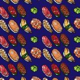 Sushi pattern Stock Photo