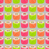 Sushi pattern Stock Images