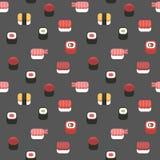 Sushi pattern Royalty Free Stock Photo