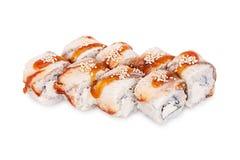 Sushi Peking. Isolated on a white background Royalty Free Stock Photography