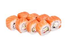 Sushi Philadelphia. Isolated on a white background Royalty Free Stock Photos