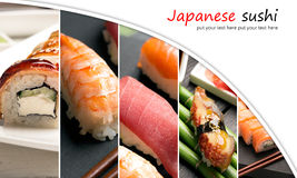 Sushi photo collage Stock Photos