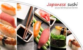 Sushi photo collage Royalty Free Stock Image