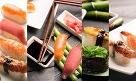 Sushi photo collage Stock Photos