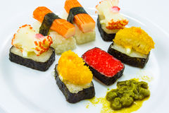 Sushi. This photo are Sushi.It are Japanese foods Royalty Free Stock Photo