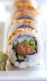 Sushi piccanti del rotolo di tonno Immagini Stock Libere da Diritti