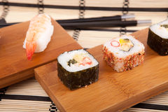Sushi pieces Stock Photo