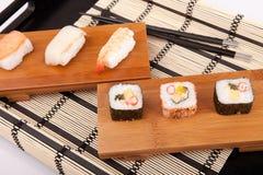 Sushi pieces Stock Photos