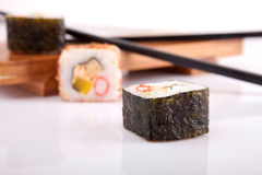 Sushi pieces Royalty Free Stock Photography
