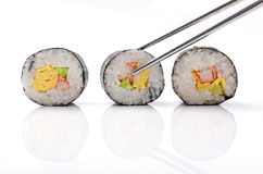Sushi pieces collection Royalty Free Stock Photos