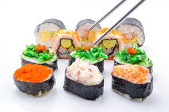 Sushi pieces collection Royalty Free Stock Photo