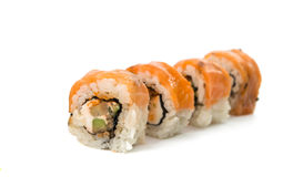 Sushi pieces isolated Royalty Free Stock Photos