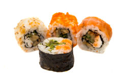 Sushi pieces isolated Stock Image