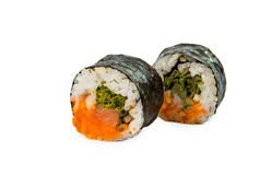 Sushi pieces isolated Stock Photography