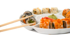 Sushi pieces isolated Royalty Free Stock Image