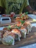 Sushi place stock photo
