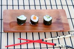Sushi on placemat Stock Image
