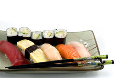 Sushi plate Stock Images