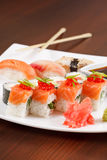 Sushi on the plate Stock Images