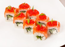 Sushi on the plate Royalty Free Stock Photo