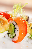 Sushi on the plate Royalty Free Stock Images