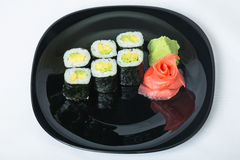 Sushi on a plate. Stock Photos