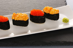 Sushi on plate Royalty Free Stock Photo