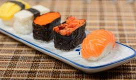Sushi. On the plate Royalty Free Stock Image