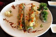 Sushi. Plate of sushi royalty free stock image