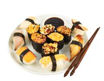 Sushi in a plate Stock Photography