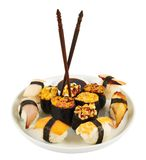 Sushi in a plate Royalty Free Stock Photo