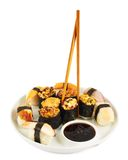 Sushi in a plate Royalty Free Stock Photography
