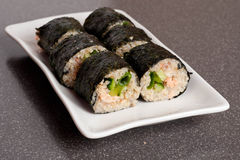 Sushi on a plate close up Stock Photo