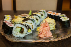 Sushi plate closeup Royalty Free Stock Photography