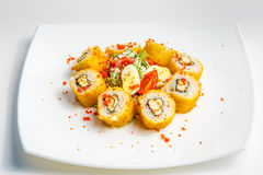 Sushi on a plate Royalty Free Stock Images