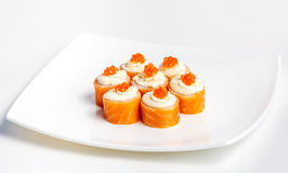 Sushi on a plate Stock Images