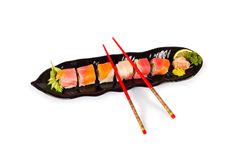 Sushi plate isolated Stock Photos