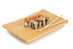 Sushi plate, isolated on white Stock Images