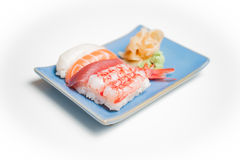Sushi plate with nigiri Royalty Free Stock Images