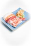 Sushi plate with nigiri Royalty Free Stock Photo