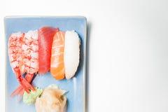 Sushi plate with nigiri Stock Image