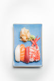 Sushi plate with nigiri Stock Photos