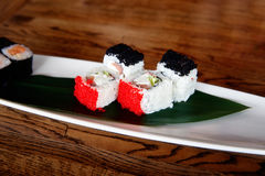 Sushi on a plate Royalty Free Stock Photo