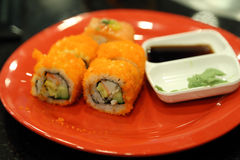 Sushi on plate Royalty Free Stock Photography