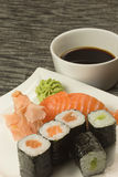 Sushi on a plate. Vertically. Stock Photography